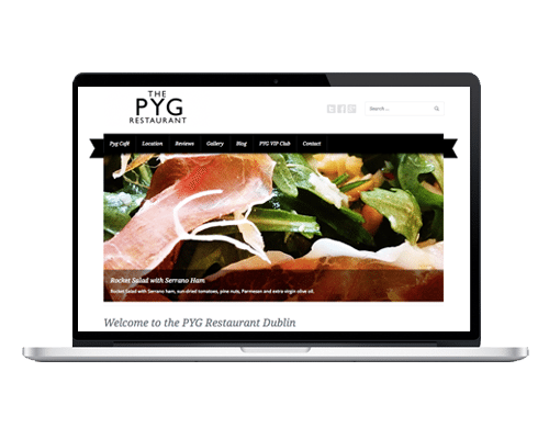 WordPress Web Design - Pyg Restaurant Dublin
