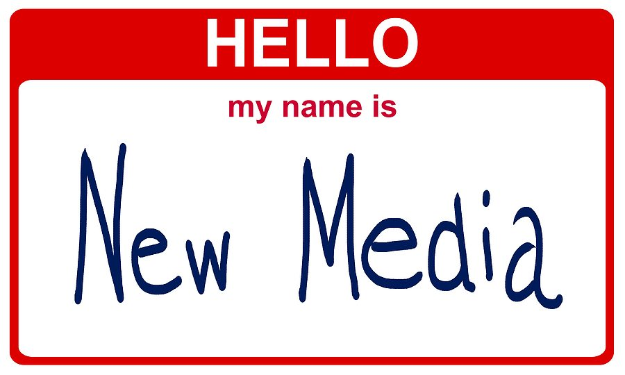 New Media name tag