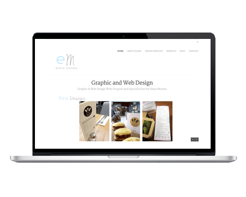 WordPress Web Design - ElenaMontes.ie