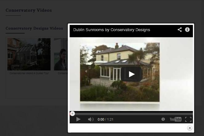 WordPress site launch - Conservatory Designs - Video Player