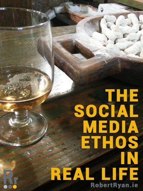 Social media ethos in real life