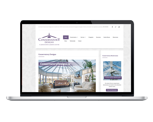 WordPress Web Design - Conservatory Designs