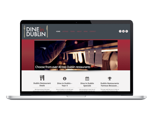 WordPress Web Design - Dine in Dublin