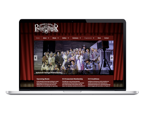 WordPress Web Design - R & R Musical Society