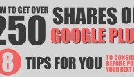 How to Get 250 Shares on Google Plus - Infographic - Google Plus Tips