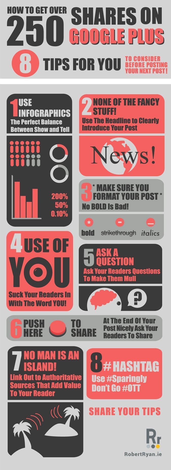 How to Get 250 Shares on Google Plus - Infographic