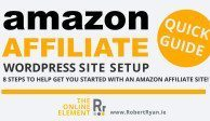 Amazon Affiliate WordPress Site Start Up Guide - Header
