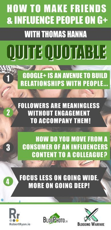 How To Make Friends & Influence People on Google Plus - Thomas Hanna - G+ infographic
