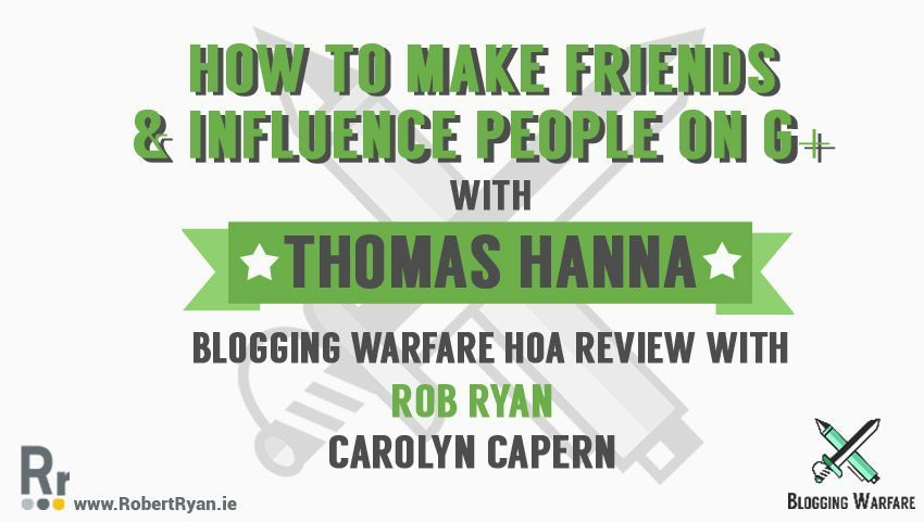 How To Make Friends & Influence People on Google Plus - Thomas Hanna - cover