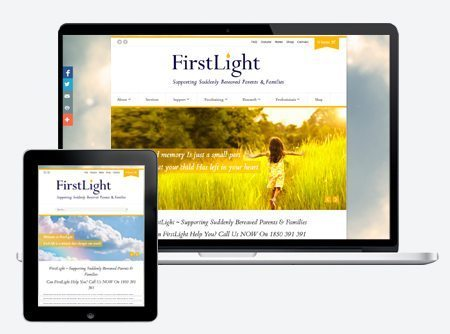 FirstLight Irish Charity WordPress Web Site
