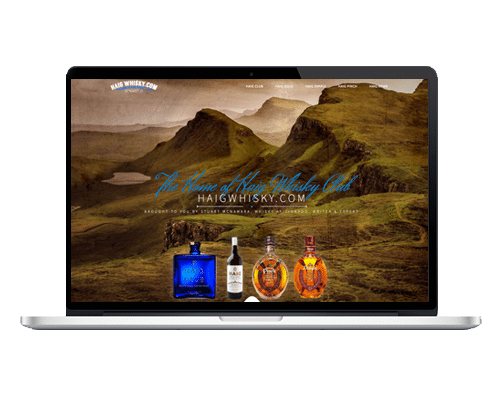 WordPress Web Design Ireland - Haig Whisky