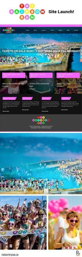 WordPress Site Launch - The Rainbow Run