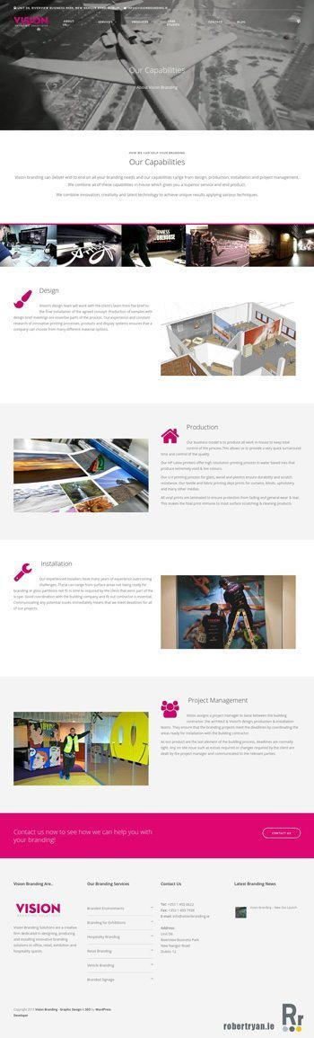 Vision Branding - WordPress Site Launch