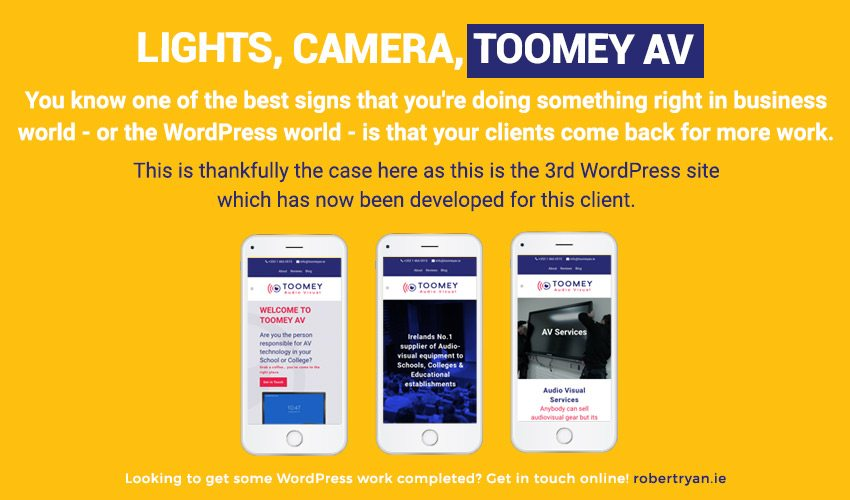 Recent WordPress Developer Work for Toomey AV