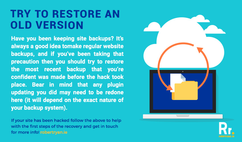 WordPress Hack Recovery from Backup